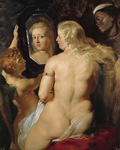 Oil Painting Mirror - Oil Painting Reproductions on Canvas Prints,High definition print-Venus at the Mirror by Peter Paul Rubens