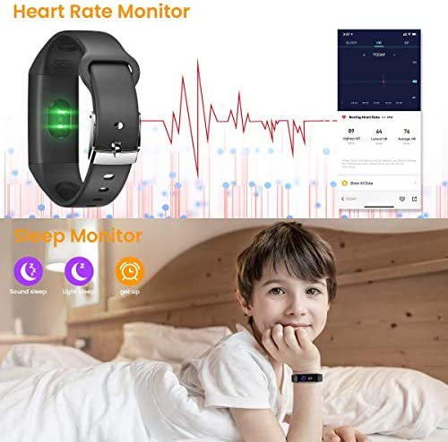 CanMixs Fitness Tracker Watch for Kids Girls Boys Teens,Activity Tracker,HD Color Screen Heart Rate Sleep Monitor,Pedometer,Calorie Counter,Alarm Clock,IP68 Waterproof Sport Digital Watch Women Men 4