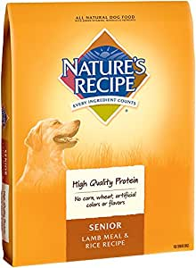 Nature's Recipe Senior Dog Food, Lamb Meal & Rice Recipe, 30-Pound