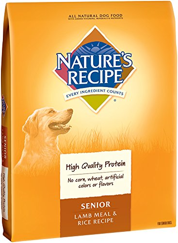Nature's Recipe Senior Dog Food, Lamb Meal & Rice Recipe, 30-Pound