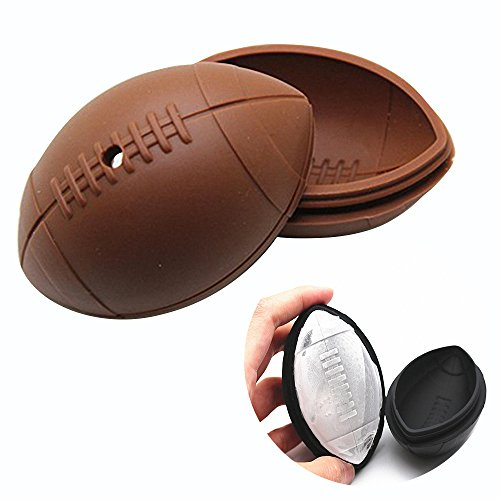- 3D Rugby Ice Cube Mold - MoldFun Rugby Silicone Mold for Jello Bath Bomb Lotion Bar Handmade Soap Plaster Polymer Clay, Perfect Gift for American Football Fans
