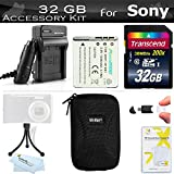 32GB Accessory Kit For Sony Cyber-shot DSC-W800, W800/B, W800/S, DSC-W830, DSCW830/B, DSCW830, DSC-WX220, DSCWX220/B Digital Camera Includes 32GB High Speed SD Memory Card + Replacement Sony NP-BN1 (1300 mAH) Battery + Ac/Dc Charger + Hard Case + More