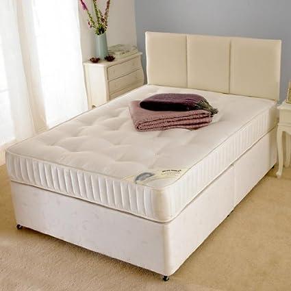 Deluxe Beds Ltd 121,92 cm Super Damask abierto Spring cama Diván ortopédica - Queen