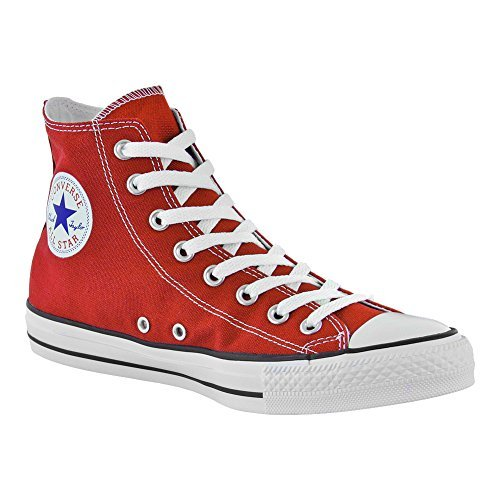 Converse Unisex Chuck Taylor All Star Hi Top Red Sneaker - 10 B(M) US/8 D(M) US