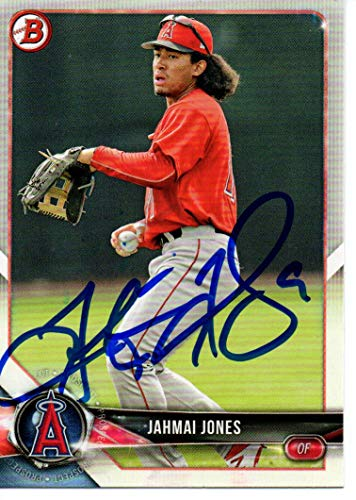 Jahmai Jones Los Angeles Angels 2018 Bowman Signed Card