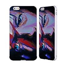 Official Rock Demarco Bowie Musicians Silver Aluminum Bumper Slider Case for Apple iPhone 6 Plus / 6s Plus