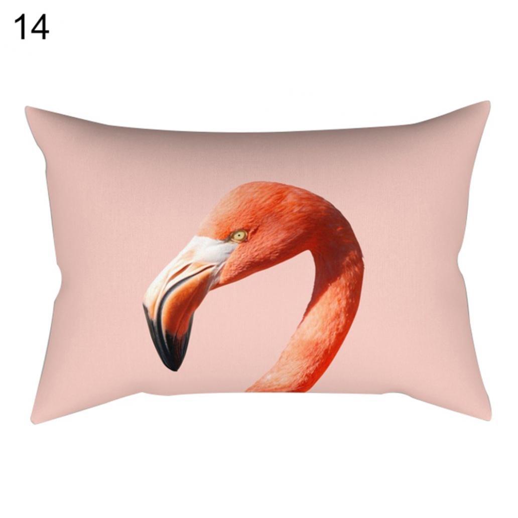 Kissenbezü ge Kissen Kissen-Schutzhü lle Flamingo-Design Heimdekoration 30 x 50 cm, Polyester, 1#, Einheitsgrö ß e Greenlans