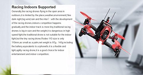 Walkera Rodeo 110 BNF No TX 110mm Racing Drone FPV RC Quadcopter (With 600TVL Camera/Battery/Charger)