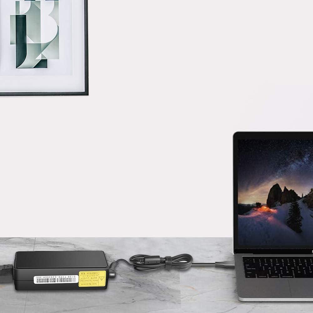 HKY 65W USB Tipo C Cargador para Lenovo IdeaPad G40 G40-30 G40-45 G40-70 G50 G50-30 G50-G70,ThinkPad T480 T580 T570 E580 E590 E485 L480 L580 P51s P52s X270 X280 L380 L390,X1 Carbon 5ta 6ta Generaci/ón
