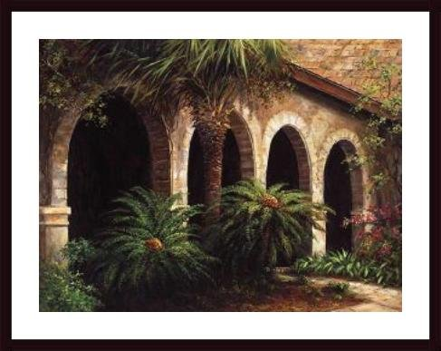 (Sago Arches, framed black wood, white matte)