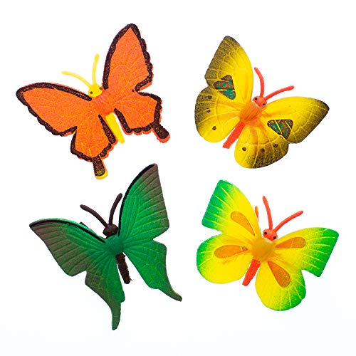 - Shop Ganz Grow A Butterfly Bright Multicolored 2 x 2 Rubber Bathtub Growing Toys Set of 4
