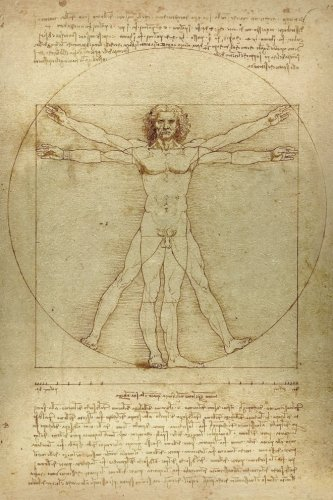Leonardo da Vinci Notebooks - The Vitruvian Man: 120 College ruled lined pages - Leonardo da Vinci's Notebook, Journal, Sketchbook, Diary, Manuscript (The Vitruvian Man)