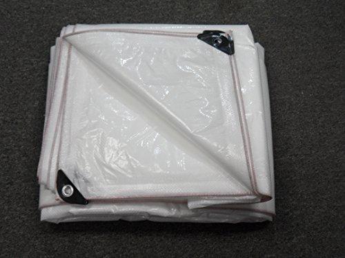 Medium Duty Reinforced Tarpaulin All Purpose Canopy Poly Tarps 9 Mil - White (30 x 40 Feet) (All Purpose Canopy)