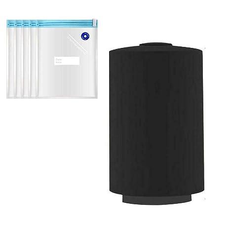 TOPWA Mini Bomba de vacío portátil de compresión automática, Recargable, Multifuncional, Bolsa de Almacenamiento, Extractor de Aire para Viajes, Bolsa ...