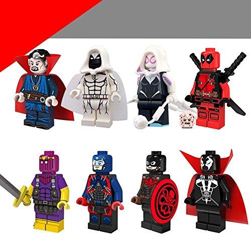 [Marvel Captain Hydra Figures Pack of 8 Blocks Toys (Plastic)] (Raven Dc Costume)