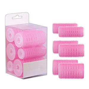 6Pcs/Set Big Self Grip Hair Rollers Cling Any Size No Heat No Clip Hair Curling Styling DIY Magic Spiral Curlers