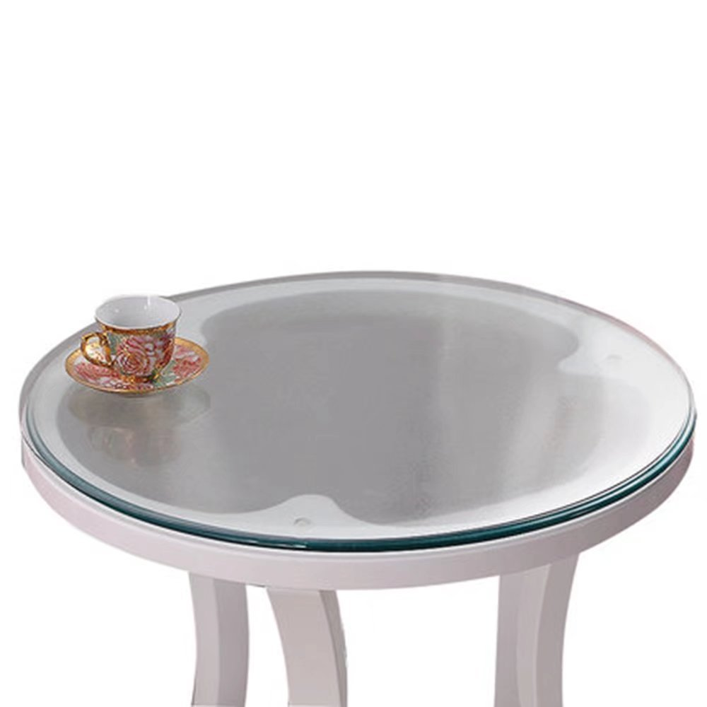 Soft Glass Table Cover Round Clear Table Top Protector PVC Tablecloth Desk Mats Pads Frosted 23.5