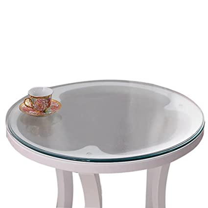 Amazon Com Soft Glass Table Cover Round Clear Table Top Protector