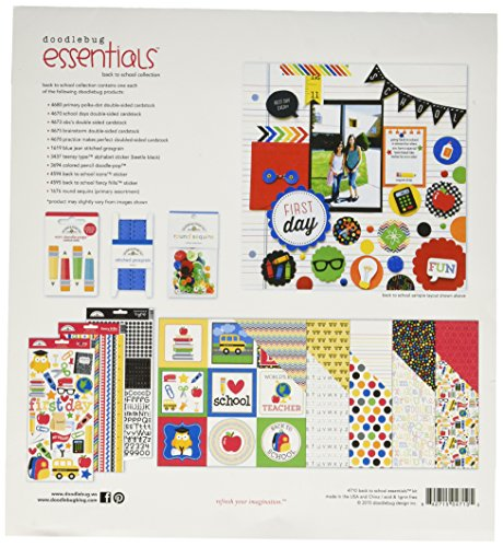 Doodlebug Back to School Essentials Page Kit, 12 by 12
