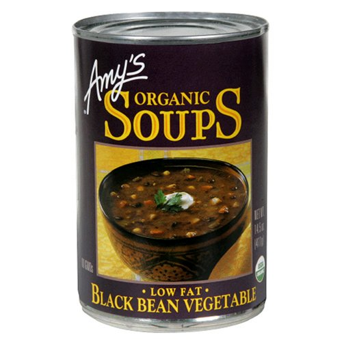 Amy's Organic Black Bean Vegetable Soup, 14.5-Ounce Cans (Pack of 12) (Amys Soup Black Bean)