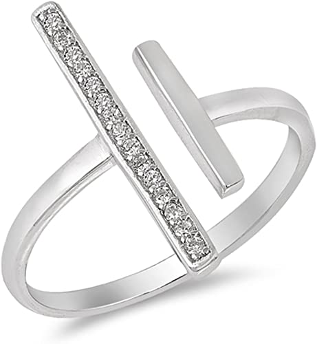 Silver Plated Wide Circle Band Ring Jewelry Open Rings For Beautiful Girl FR