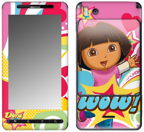 MusicSkins, MS-DORA30151, Dora The Explorer - Pop Denim, Motorola Droid X/X2, - Denim Revolution