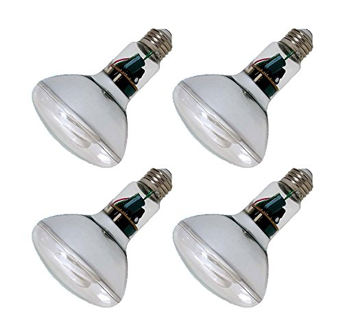 Pack of 4 GE 15W CFL Reveal Bulb Equivalent to 60W Color Enhanced Tone BR30 Flood Light