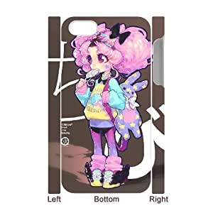 3D Doah Art Prints IPhone 4/4s Cases Chibi Protector for Girls, Case for Iphone 4 4s, {White}