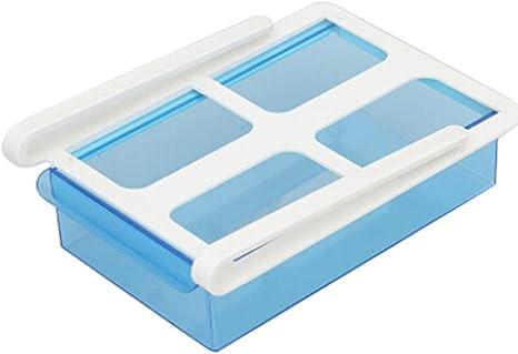 Iusun Box Caja de almacenamiento para nevera, organizador deslizante para nevera, congelador, nevera, estante de almacenamiento, cajón, Azul: Amazon.es: Deportes y aire libre