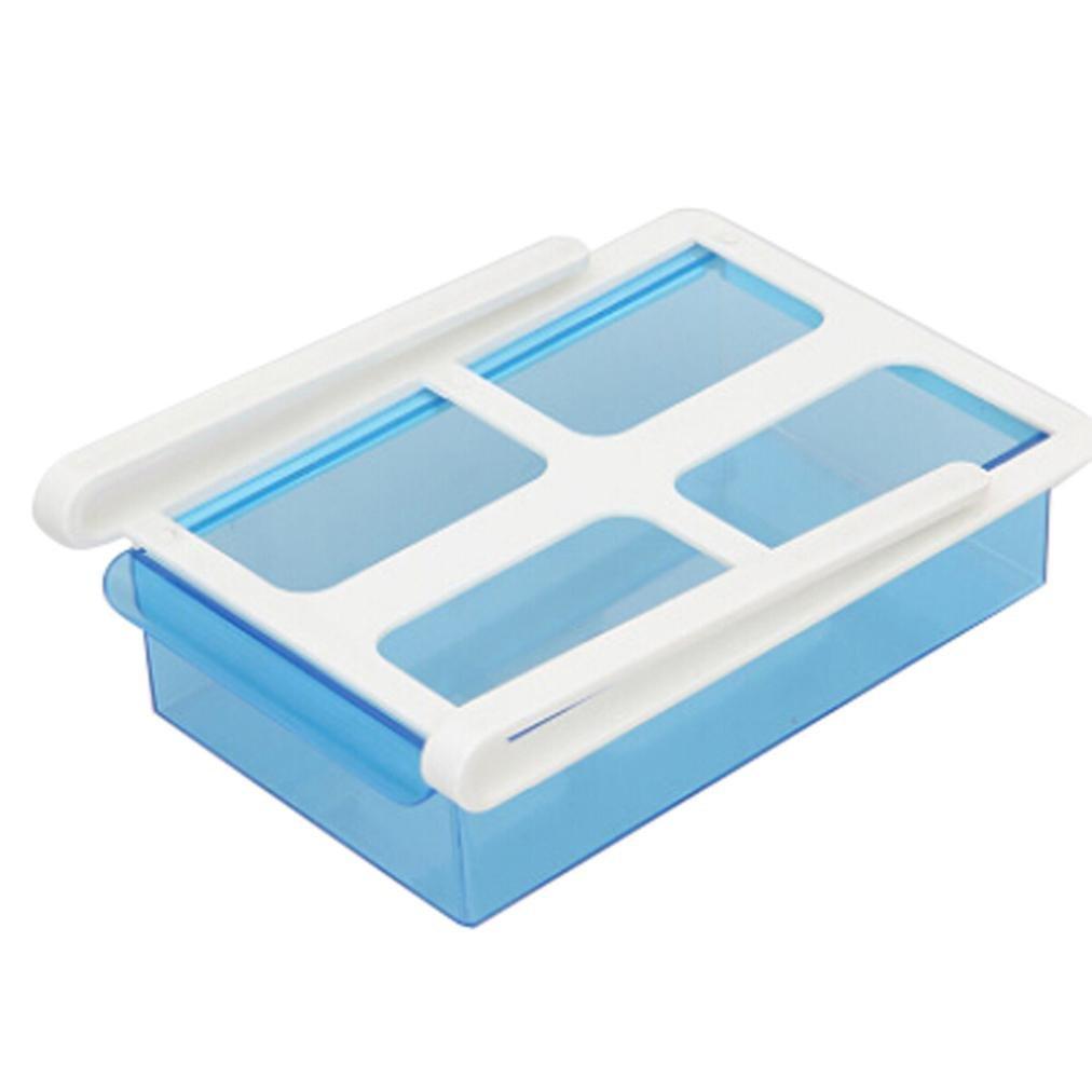 冷蔵庫ストレージボックス ブルー B07DFC8YHP、iusunスライド冷蔵庫冷凍庫冷蔵庫オーガナイザーストレージラックシェルフ引き出し B07DFC8YHP ブルー, ウメマチ:3efa72f9 --- lembahbougenville.com