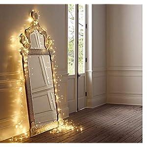 SALCAR LED colorati corda leggera a 10 metri / 33 piedi 100 diodi all'interno filo di rame Micro per le feste di Natale… 10 spesavip