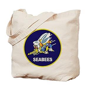 CafePress - Seabees_NAVY - Natural Canvas Tote Bag, Cloth Shopping Bag by CafePress