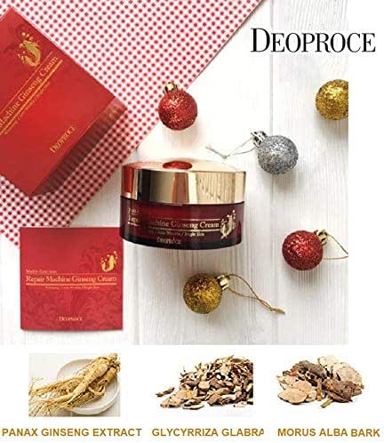 Korean Cosmetics Deoproce Ginseng Repair Cream,smooths wrinkles and improves tone, moisturizes the skin, brightens the age-related pigmentation, refreshes dull complexion, (Ginseng Repair Cream)