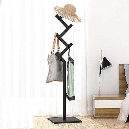 XRXY ソリッドウッドフロアスタンドマルチファンクションコートラック/ベッドルームクリエイティブなハンガー/家庭の単純なハンガー(4色オプション) ( 色 : ブラック )