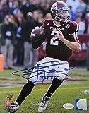 Autographed Johnny Manziel Picture - 8x10 Insc 12 Heisman - JSA Certified - Autographed College Photos