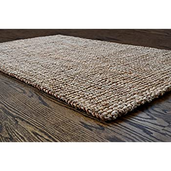 Milliard Handspun 3' x 5' Natural Area Jute Rug, Thick and Sturdy, Beautiful look and Matches all Color Schemes, Environmentally Friendly