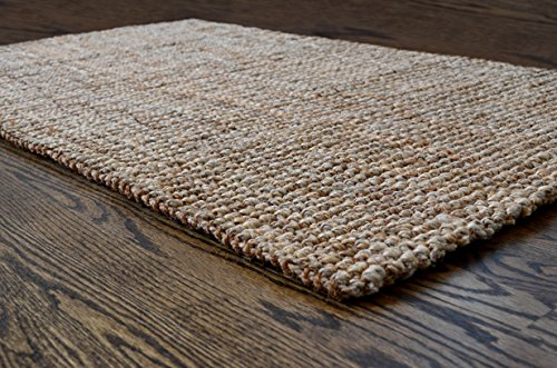 51GjOVDqW0L - Milliard Handspun 3' x 5' Natural Area Jute Rug, Thick and Sturdy, Beautiful look and Matches all Color Schemes, Environmentally Friendly