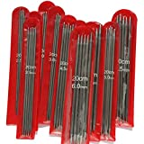 Z-COLOR 11 Sizes 55Pcs 7.9'' Double Pointed Stainless Knitting Needles Set 2 MM -6.5 MM
