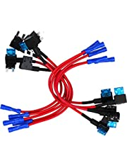 10 Pack - EPAuto Fuse Tap 12V Car Add-a-circuit Adapter Mini ATM APM Blade Fuse Holder