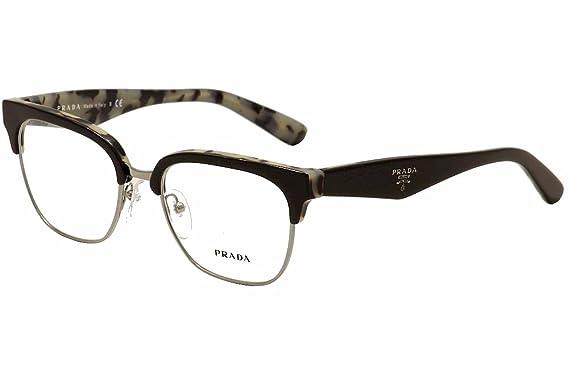 6d01a3829f88 PRADA PR 30RV Eyeglasses ROK1O1 Black White Havana 52-18-140  Amazon.co.uk   Clothing