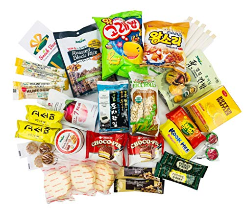 Jayone Korean Snack Box Variety Assortment of Japanese Candy, Korean Snacks and More! | College Care Package | Gift Care Package (35 Count)