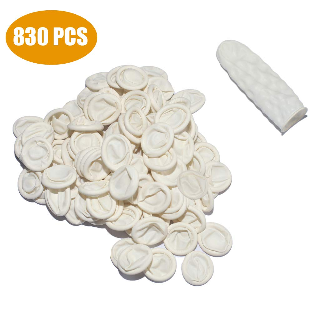 500g(Approx.830 PCS),Disposable Latex Finger Cots, Rubber Fingertips,Protective Finger Gloves,Craft Production,Jewelry Cleaning,Electronic Repair, Latex Tissue Finger Cot by CHUXIA