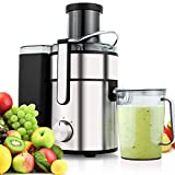 Pagacat 2.5L 1000W Wide Mouth Centrifugal Juicer High Speed for Fruit and Vegetables Dual Speed Setting Blender Include with Premium Food Grade Stainless Steel Cutter and a 1000ml Cup (US Stock)