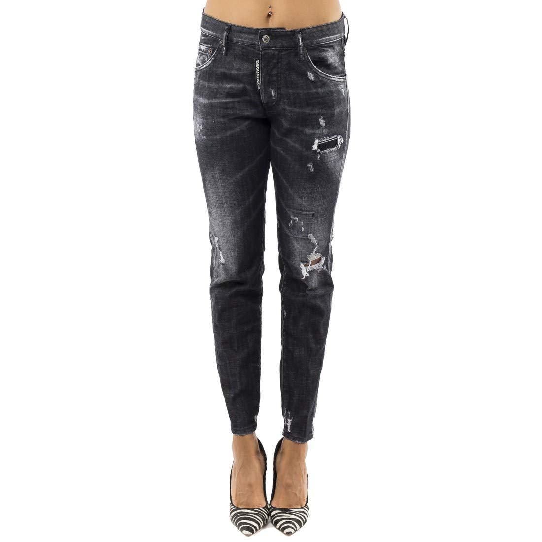 DSQUARED Pantalones vaqueros negro 40: Amazon.es: Ropa y ...
