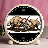 Alarm Clock, Bedroom Tabletop Retro Portable Clocks with Nightlight Custom designs Dinosaurs 145_Centrosaurus dinosaur
