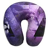 U-Shaped Pillow Neck Shoulder Body Care Space Funny Animal Pattern Health Soft U-Pillow For Home Travel Flight Unisex Supportive Sleeping