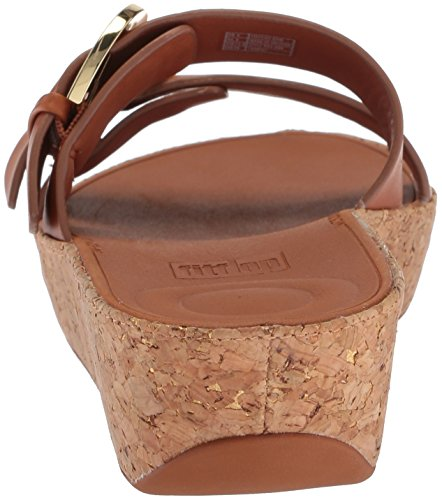 Duo Leather Slide Caramel Buckle Sandals FitFlop FzqOBwUxx