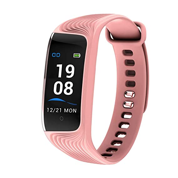 450d3a74b8a71 Amazon.com  S4 Wearable Pedometer Color Display Smart Bracelet Sport ...