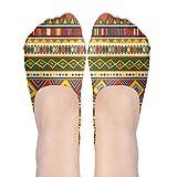 Ethnic Africa Art Colorful Pattern Invisible Socks Low Cut Socks Liner Socks Cotton Socks Casual Socks Crew Socks Shirt Shoes