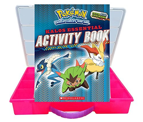 Official Pokemon Activity Book + Mini Figures Compatible Storage Organizer. Stores Up to 30 Mini Figures. Customize Your Children's Storage Box With This Ultimate 150+ Sticker Collection